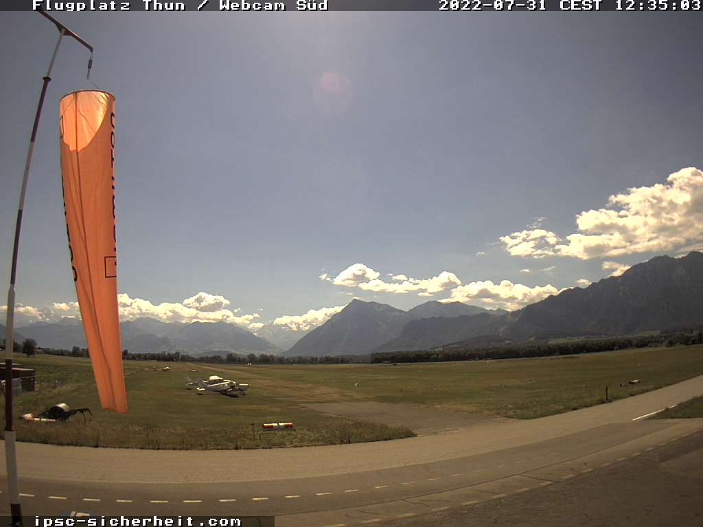Webcam Flugplatz Thun-Airfield